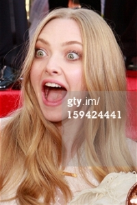 Amanda Seyfried - Golden Globes 2013 - face