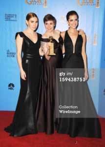 Lena Dunham and Girls - Golden Globes 2013
