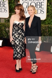 Tina Fey and Amy Poehler - Golden Globes 2013 - Arrivals