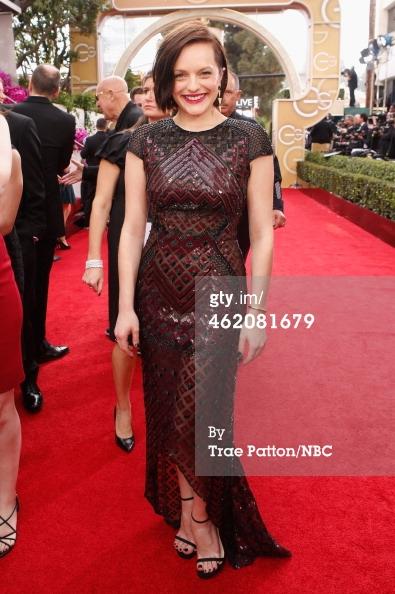 Elizabeth Moss Golden Globes 2014