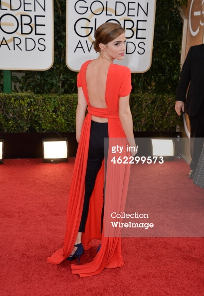 Emma Watson Golden Globes 2014 back