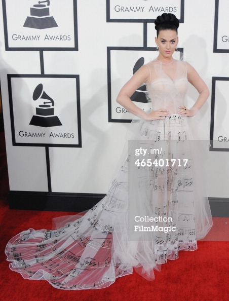 Katy Perry Grammys 2014 arrivals