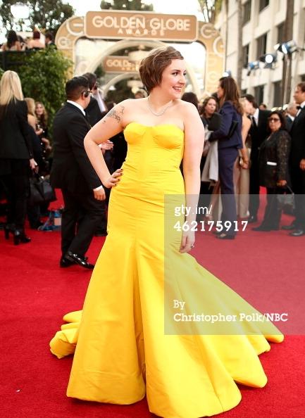 Lena Dunham Golden Globes 2014