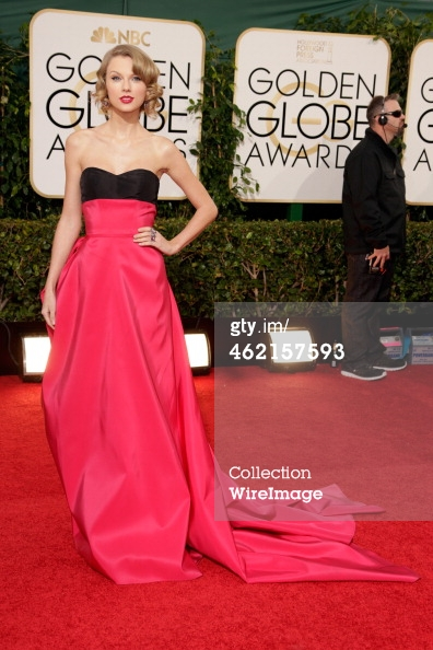 Taylor Swift Golden Globes red carpet 2014
