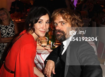 sebil kekilli and tyrion lannister emmys 2014